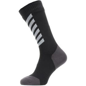 Sealskinz Waterproof All Weather Mid Socks black/grey/white